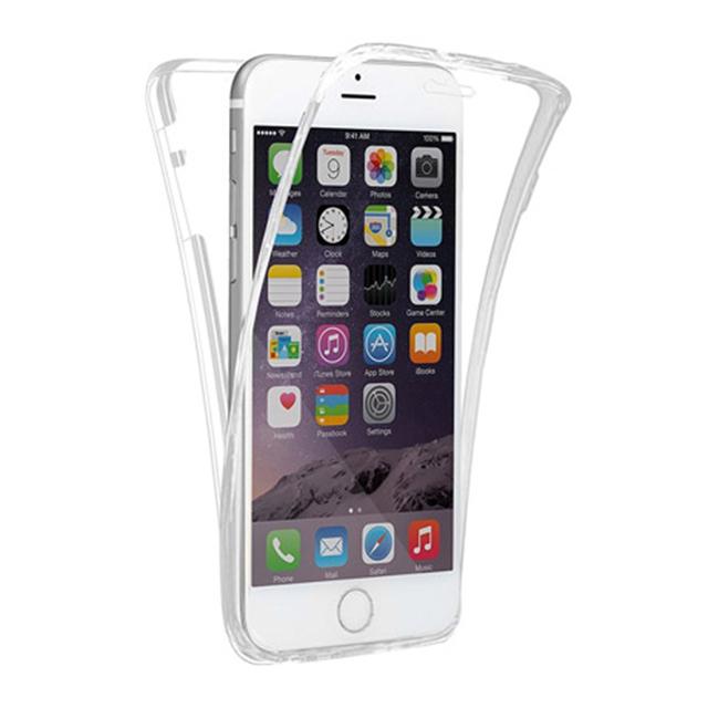 잭코니 아이폰 SE2 케이스 풀커버 클리어 젤리 휴대폰