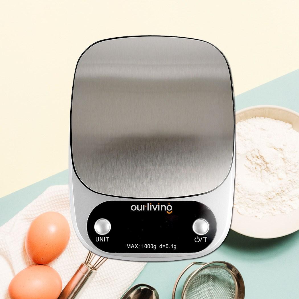 아워리빙 주방 전자저울 초정밀 저울 0.1g 1g 용량 1kg계량저울, 혼합색상, 주방저울 S301