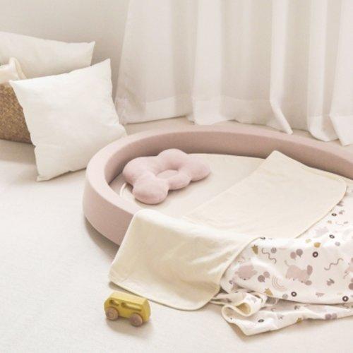 [텐바이텐] 젤리맘 르베르소 아기 신생아 침대 프레임+에어매트 2종, 침대_핑크+매트_화이트