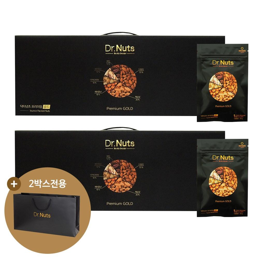 닥터넛츠 프리미엄골드 하루견과 선물세트, 840g(28gx30팩), 2box