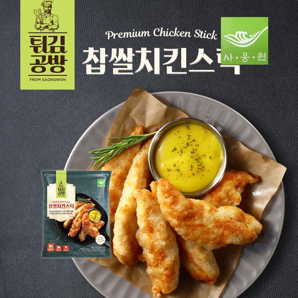 사옹원 찹쌀치킨스틱 400g 국내산안심닭 담백촉촉쫀득간편, 1개