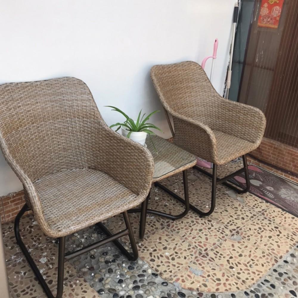 리얼비 카페 베란다 테라스 미니 커피 등나무 라탄 테이블+의자2개 세트 테라스 정원 레저 등나무 야외, 오리지널 등나무 3피스 슈트 1테이블+2의자