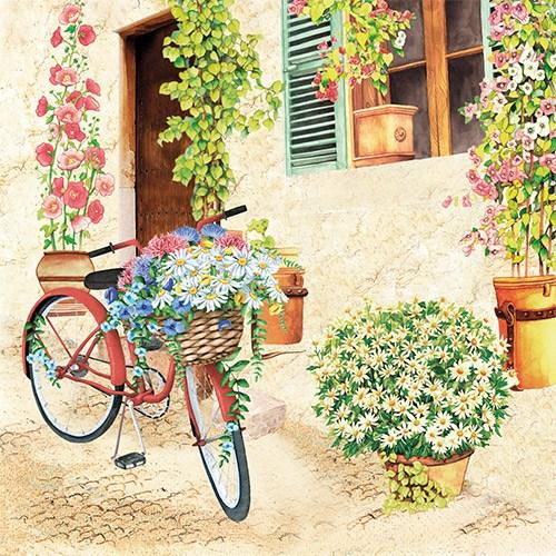 파스텔크래프트 DOMMOS 냅킨아트 2118280 Flower Bike 냅킨20매 33x33cm 2045, 20매입, 혼합색상