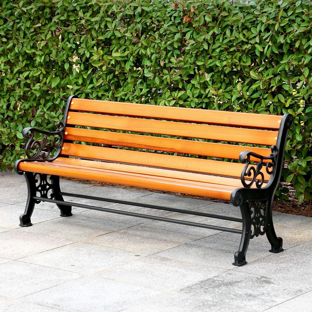 가구로드 뉴테이크벤치 3인용벤치 4인용벤치 공원벤치 야외용의자 원목 야외벤치 아파트 정원 테라스 펜션, 뉴테이크벤치-3인용