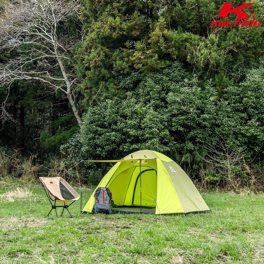 콜핑 베키II 심플한 크로스폴 텐트 KFN2192U, LGREEN, 3인용