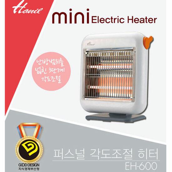 한일 미니 전기 스토브 히터/EH-600/3단 각도조절, 단품