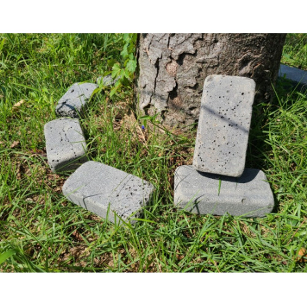 현무암 벽돌 전원주택 화단 정원 꾸미기 조경석 정원석