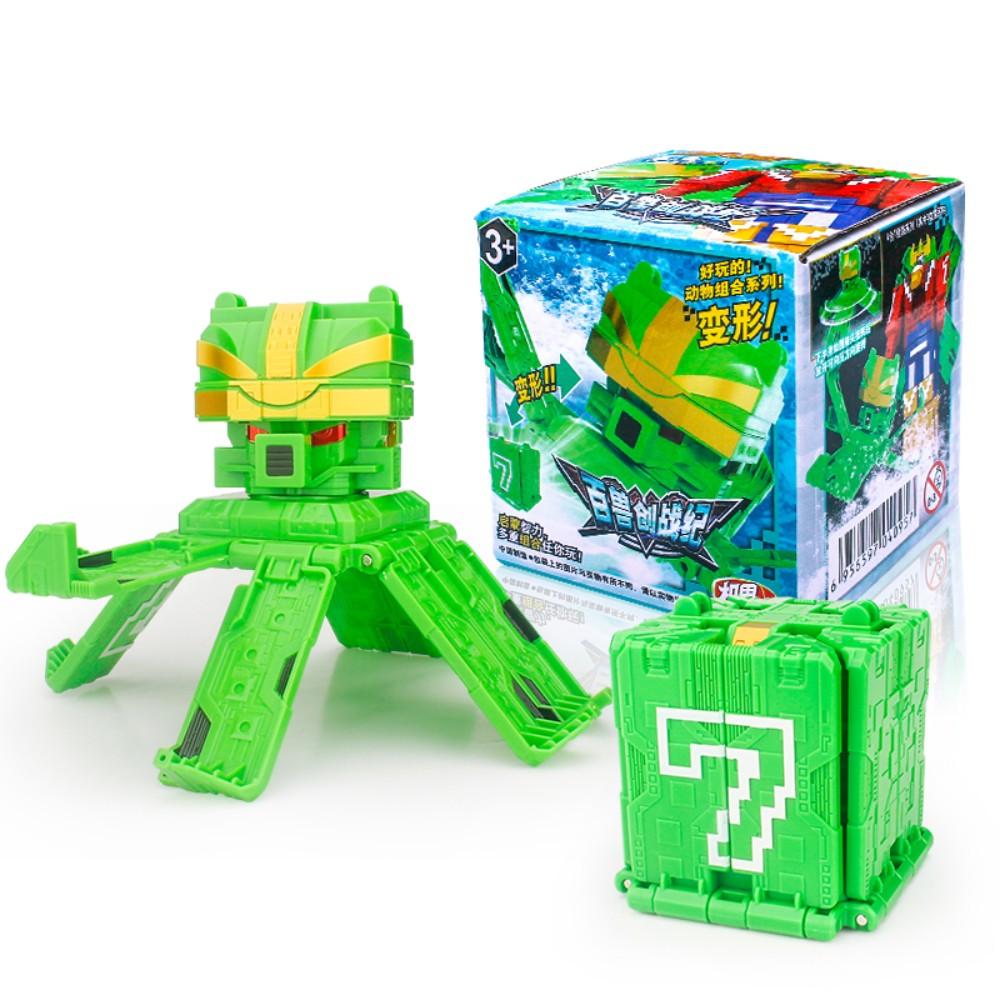 대륙 파워레인저 애니멀포스 와일드킹 큐브 변신 로봇 장난감 변형 야수 왕 동물 조합 로봇, 7 번 문어