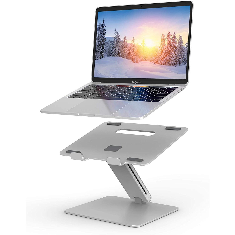 루쓰몰 알루미늄 노트북거치대-LH2 접이식 Z형 노트북거치대 받침대 독서대 Laptop Stand Holder MacBook Stand, 실버-21-4310024767