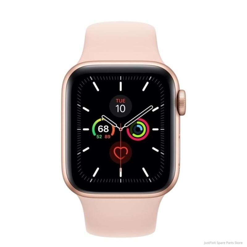 새로운 오리지널 Apple Watch Series 6 GPS 40MM 44MM 새로운 색상의 알루미늄 케이스 레드 블루 스포츠 밴드 원격 심박수 Smartwatch, 골드 케이스 핑크 샌드, 44MM GPS 와이파이