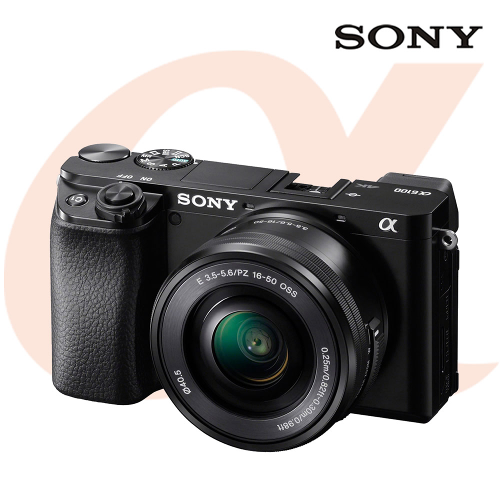 소니 알파 A6100L 미러리스 카메라 실버 + 파워 줌렌즈킷 SELP1650, 블랙