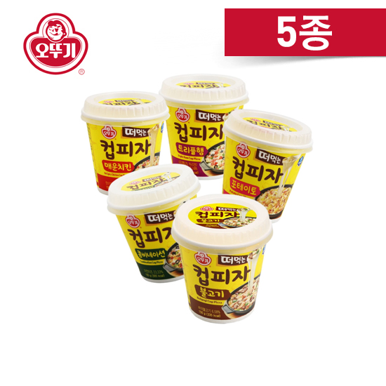 오뚜기 컵피자 5종 X 4개 (콤비/감자/햄/치킨/불고기), 07. (컵피자)콤비 2+포테이토 2