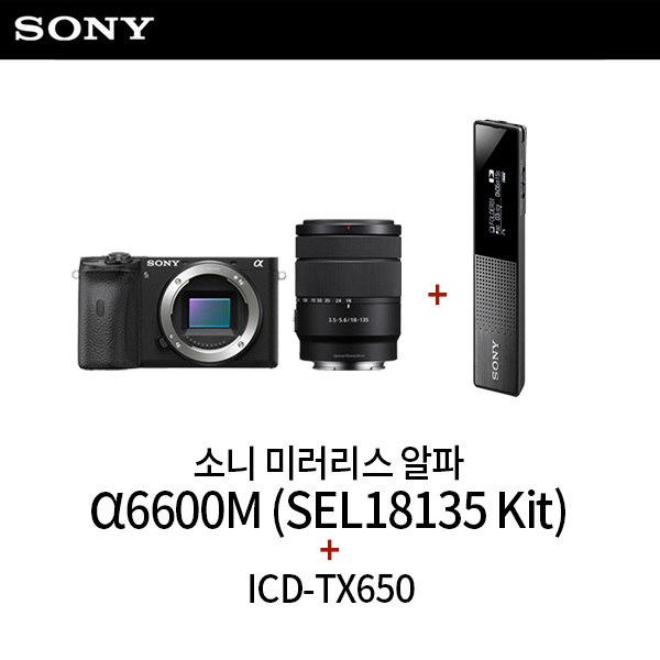 [소니] 미러리스 알파 A6600M (SEL18135 줌렌즈 킷) + ICD-TX650 보, 상세 설명 참조