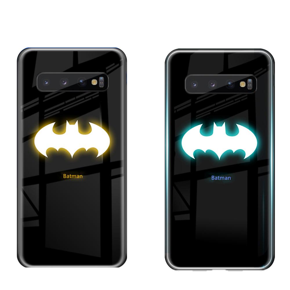 [wayfeel] 야광 히어로 강화유리 아이폰 7 8 SE2 7 8 Plus 11 Pro Max 갤럭시 S10 Note10 S20 Plus Ultra 아쿠아맨 베놈 발광 루미너스 핸드폰 케이스 휴대폰