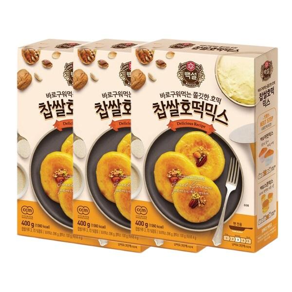 백설 찹쌀 호떡믹스 400g X3개입 (무배), 단품