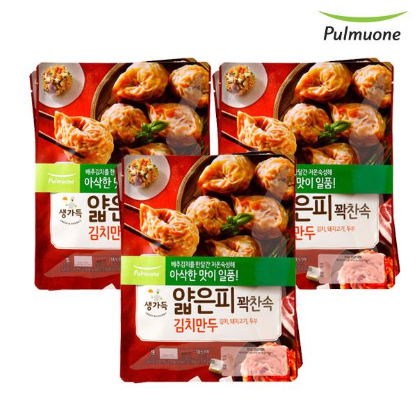 [풀무원]얇은피꽉찬속 김치만두 440gx6봉, 단품