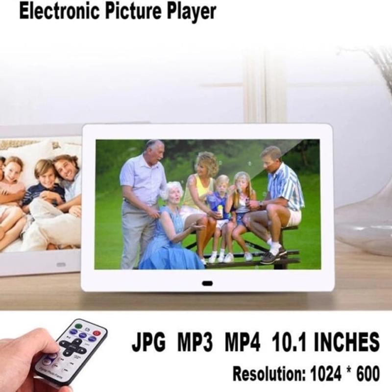 디지털 액자 15 인치 LED 백라이트 HD 1280800 전체 기능 디지털 사진 뮤직 비디오 전자 앨범 전자 사진, EU 플러그, 하얀색