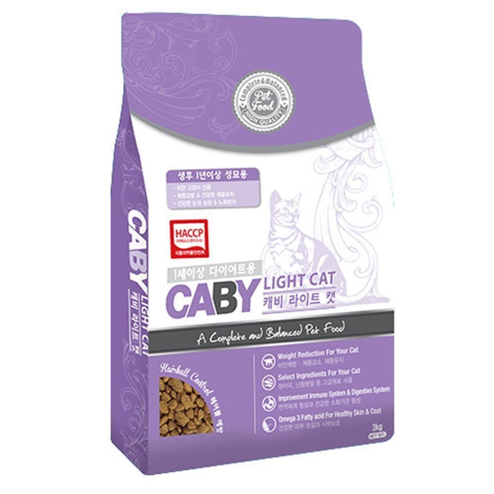 Caj + 고양이사료 라이트캣 3kg_S/N:C4+242CE9 ; (주)팜스코 CJN122C