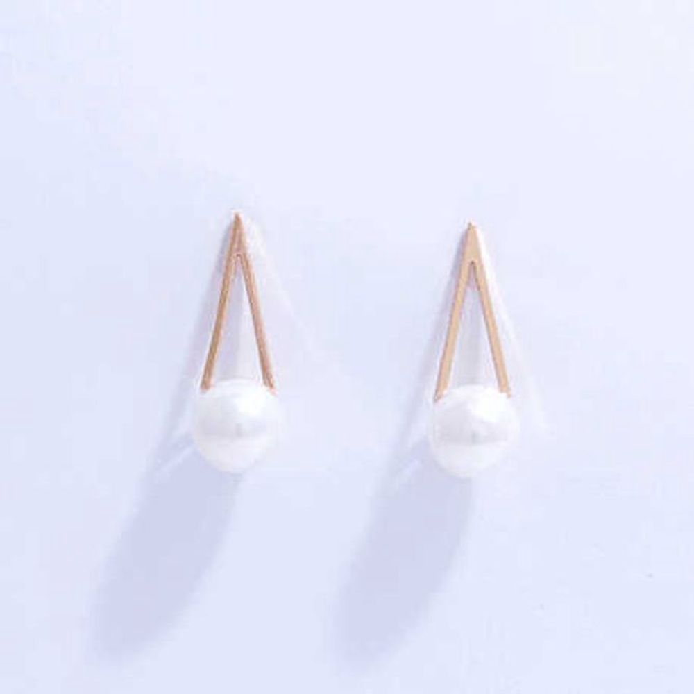 피라미드 진주 심플 귀걸이 럭셔리귀걸이 파티용귀걸이 심플귀걸이 스톤헨지귀걸이 실버귀걸이 14k드롭