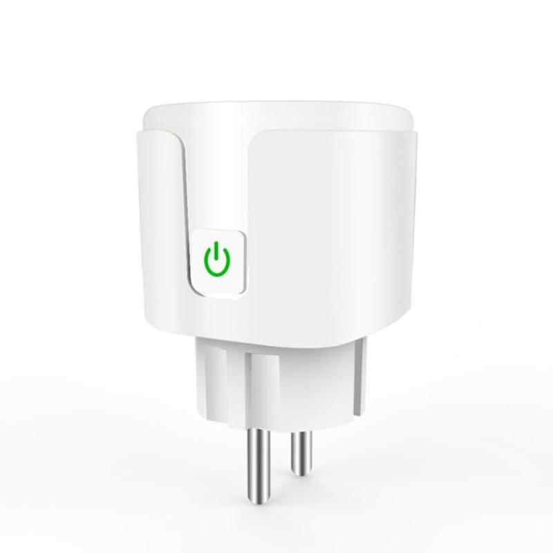 EU WIFI 스마트 플러그 전원 소켓 무선 원격 소켓 스마트 타이머 플러그 음성 제어 Amazon Alexa Google Assistant 사용, 협력사, EU 플러그, 하얀 (POP 5564097512)