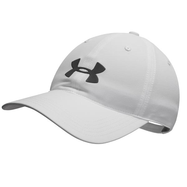언더아머 UA 드라이버 하이라이트 캡 모자 화이트 1351469-100 스포츠 트레이닝 여름