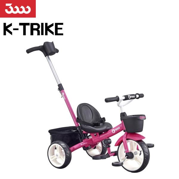 삼천리 2020 K-TRIKE 트라이크 자전거 유아자전거 세발자전거 보조손잡이, 핑크