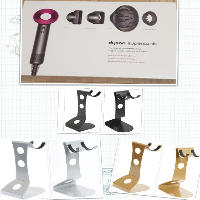 다이슨 New 슈퍼소닉 헤어드라이기 HD03+거치대셋트, 아이언핑크