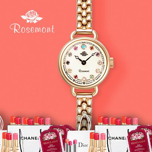 로즈몽 탄생석RS 45-05MT 여성 여자 로즈골드 시계 선물