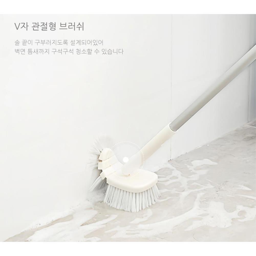 욕실 바닥 틈새청소 길이조절 청소솔 욕실브러쉬