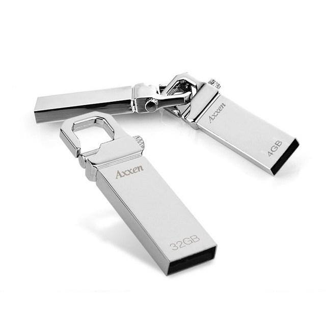 USB 메모리 소형 휴대형 프리미엄 메탈 열쇠고리형 생활방수 4G 8G 16G 32G 64G 128GB, 8GB