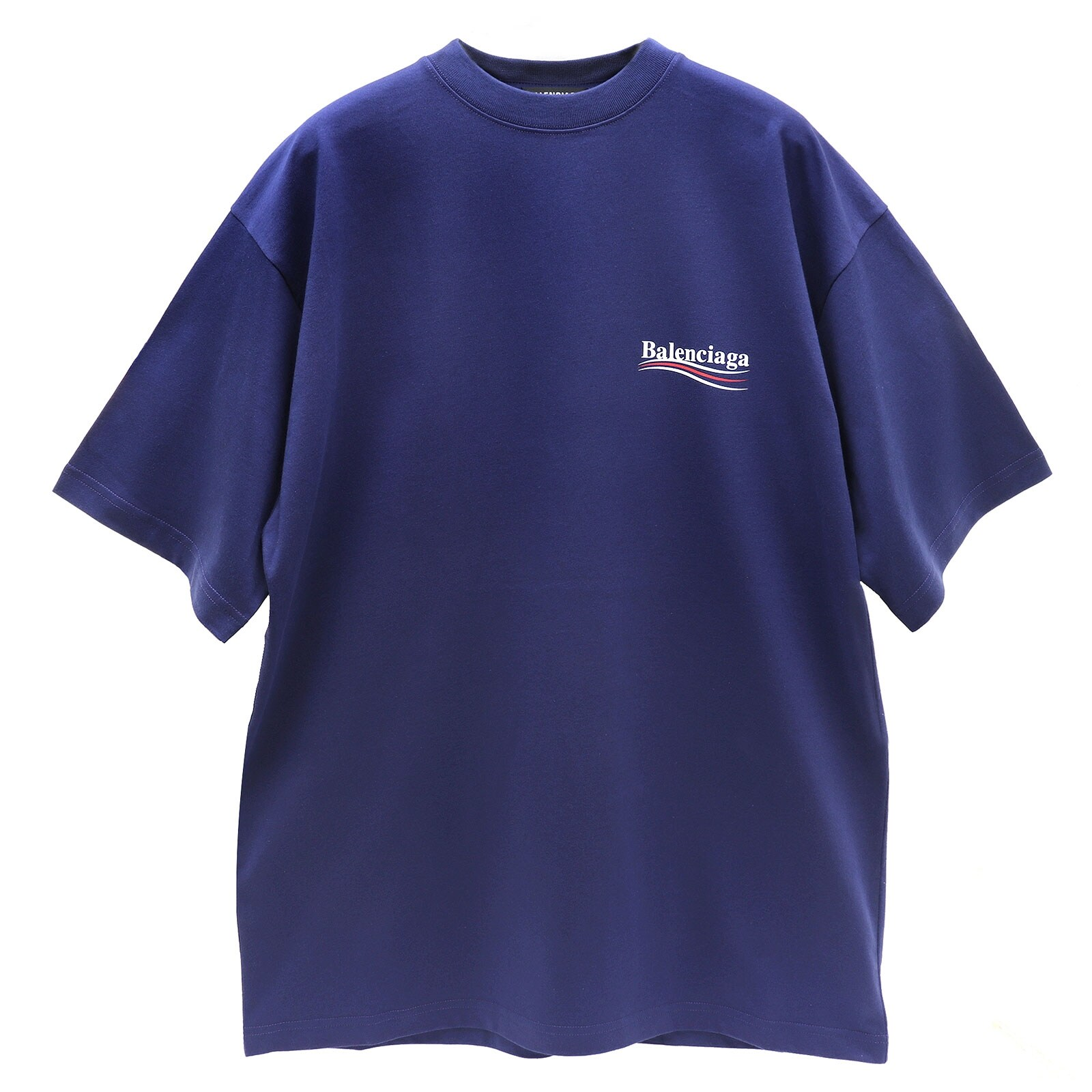 BALENCIAGA 발렌시아가 웨이브 로고 라지 핏 티셔츠 641675 TIV52 1195-16-4689563028