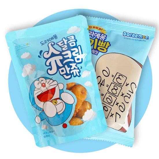 [K쇼핑][촉촉만쥬] 도라에몽 달콤슈크림만쥬 5봉(650g) + 도라에몽 암기빵 5봉(300g), 단일상품