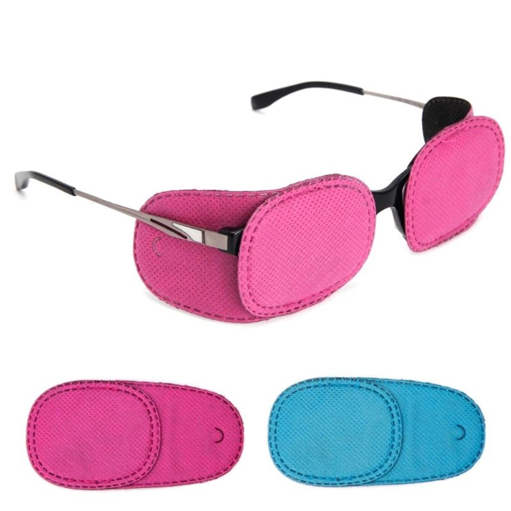 안경 가림 패치 시력 교정 약시 사시교정 치료, 핑크