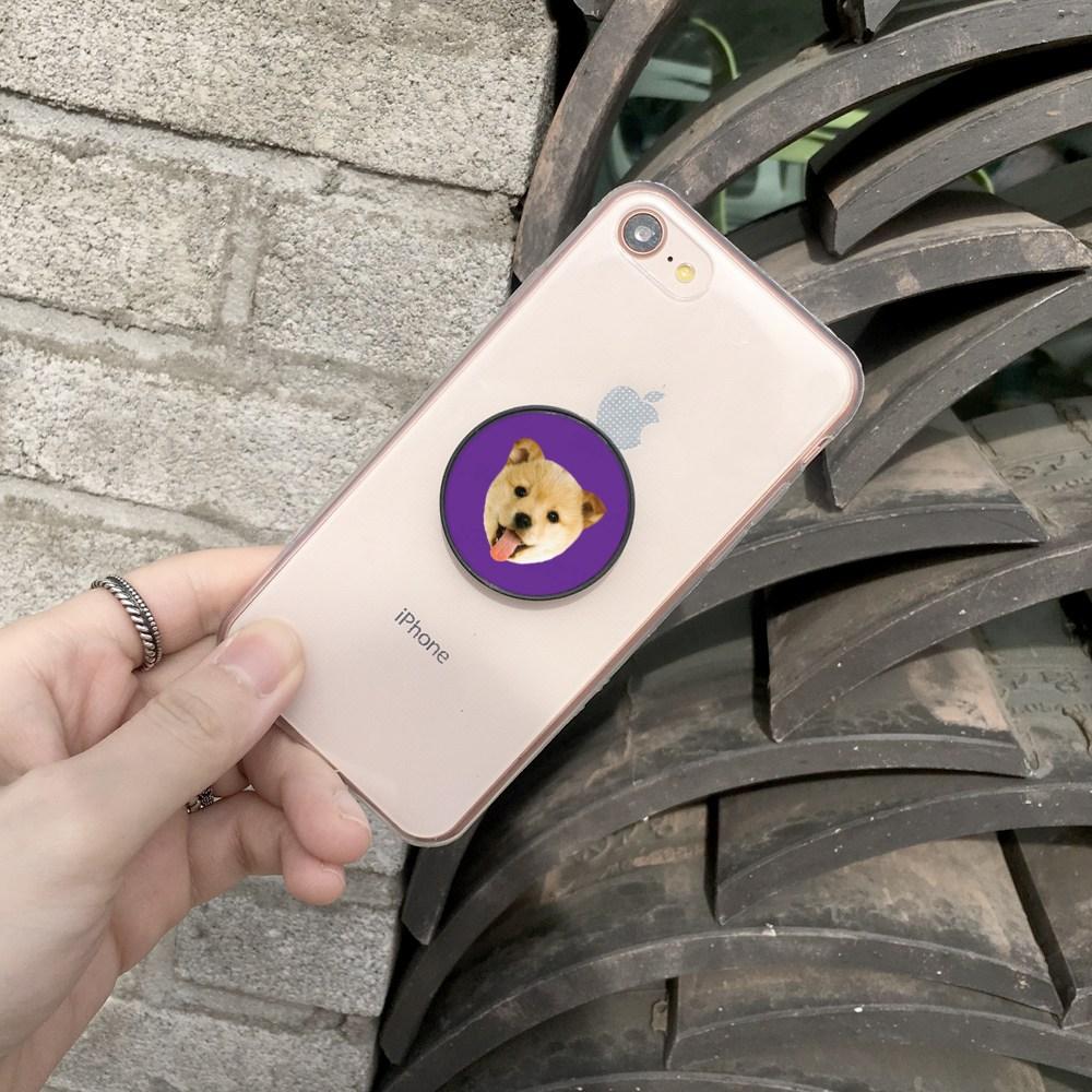 요술램프지니 [2+1] 페이스 주문제작 스마트톡 커플 커스텀 아기얼굴 반려동물 강아지 고양이 포토 차량용 호환사용ok, 딥블루, 1개