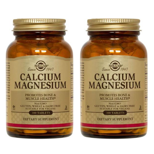 Solgar 솔가 칼슘 마그네슘 100정 2개 CALCIUM MAGNESIUM 100
