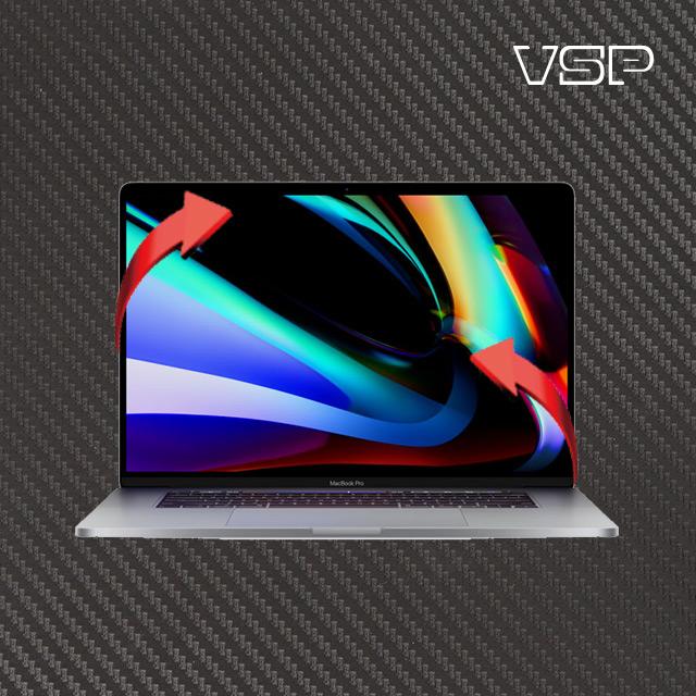 뷰에스피 2020 맥북 프로 16인치 디자인 무광카본스킨 전신 외부 보호필름 각1매, 1개