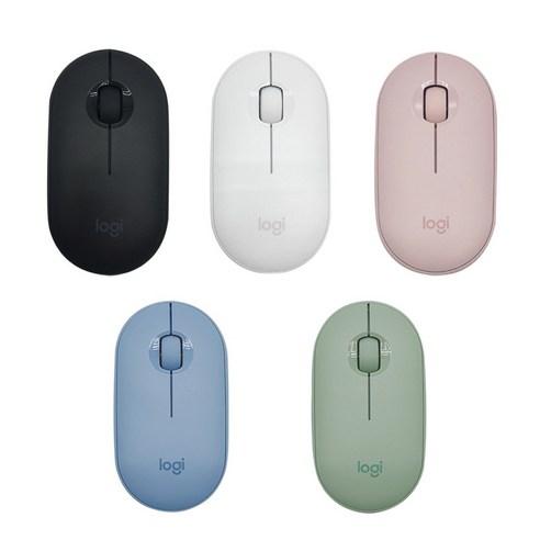 로지텍 페블 M350 무선 무소음 마우스 MR0075 정품 미개봉, 핑크