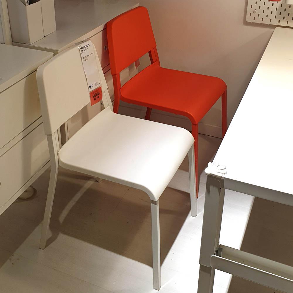 이케아 TEODORES 테오도레스 의자, 1.화이트 703.509.38