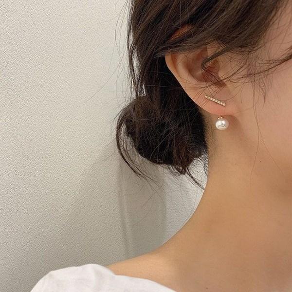 워더미 은침 큐빅 투웨이 진주 귀걸이 NN451