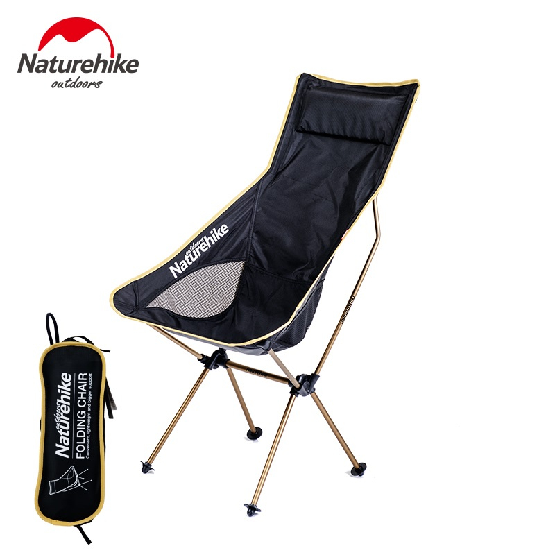 [JS멀티샵] 휴대용 접이식 초소형 간편 편안 캠핑 의자 낚시, 5. 블랙 샴페인 골드 L