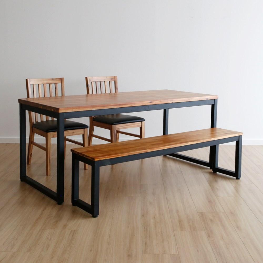 라미에스 키첸 6인식탁 원목 식탁세트, 03.키첸6인식탁1+벤치1+의자2