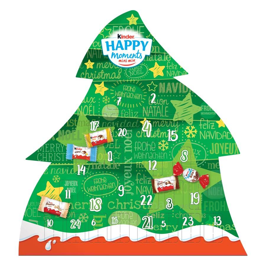 킨더 초콜릿 트리모양 어드벤트 캘린더 133g 크리스마스 선물