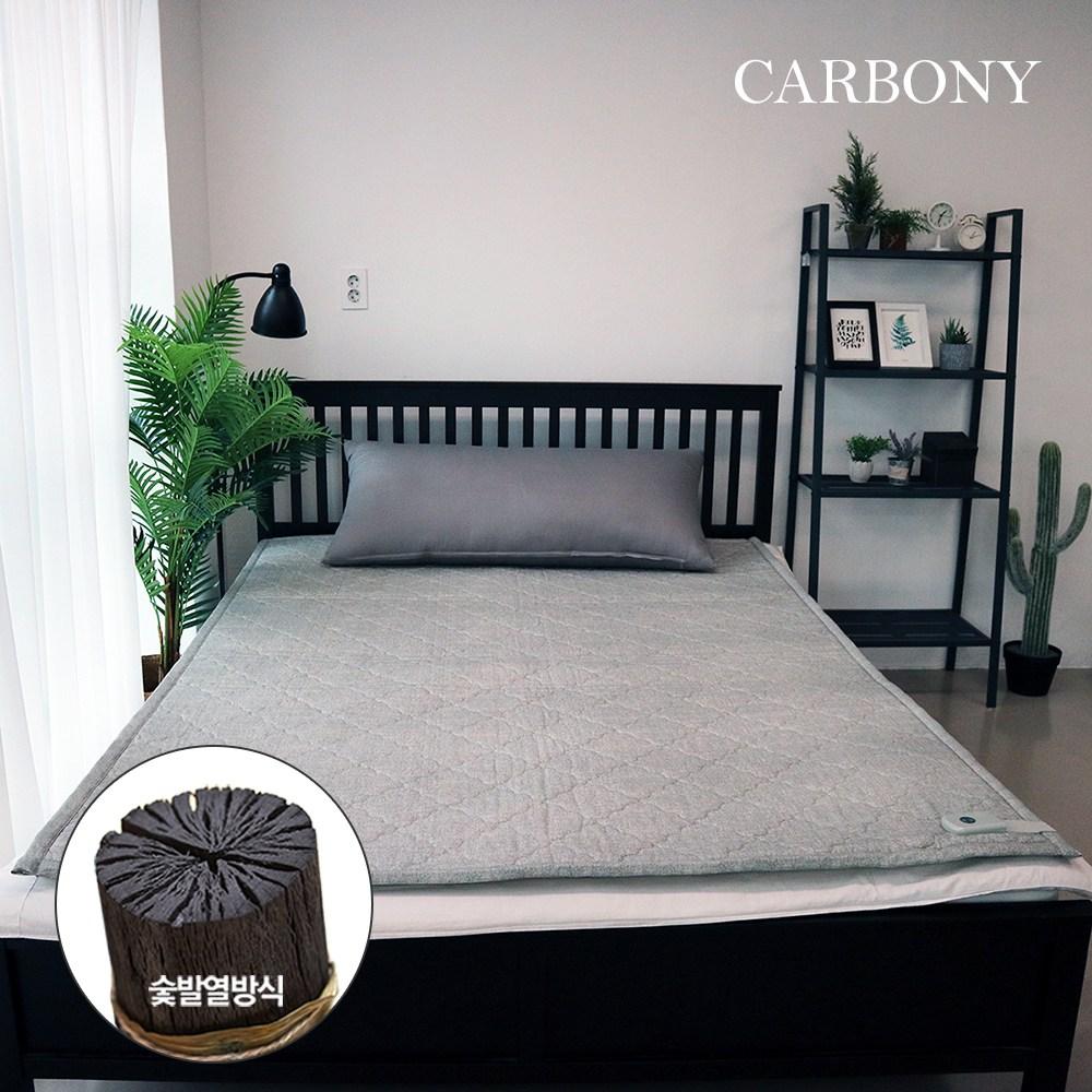 카보니 더웜 자가발열 탄소매트, 2인용, 면(멜란지그레이)