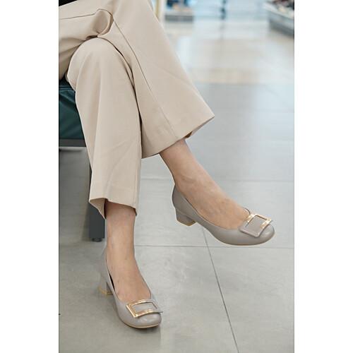 [세라] (2color)사각굽4cm 컬러감이 좋은 스퀘어 미들 여성 펌프스 c19p558