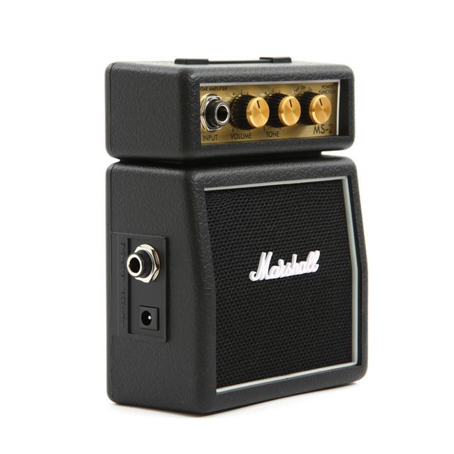 Marshall 휴대용 기타 미니앰프 MS-2 (Black) 깜찍한 앰프