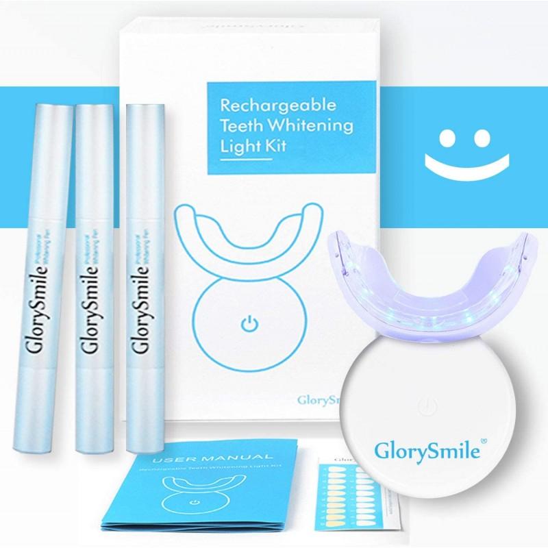 치아 미백 키트 충전식 전문 치아 미백 시스템 키트 집에서 미백 펜 3 개를 포함한 LED 조명으로 미백, 1