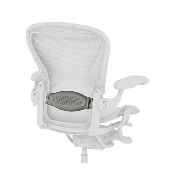 Herman Miller Classic Aeron Chair Lumbar Pad Support in Black Large Size C, Smoke, Size B