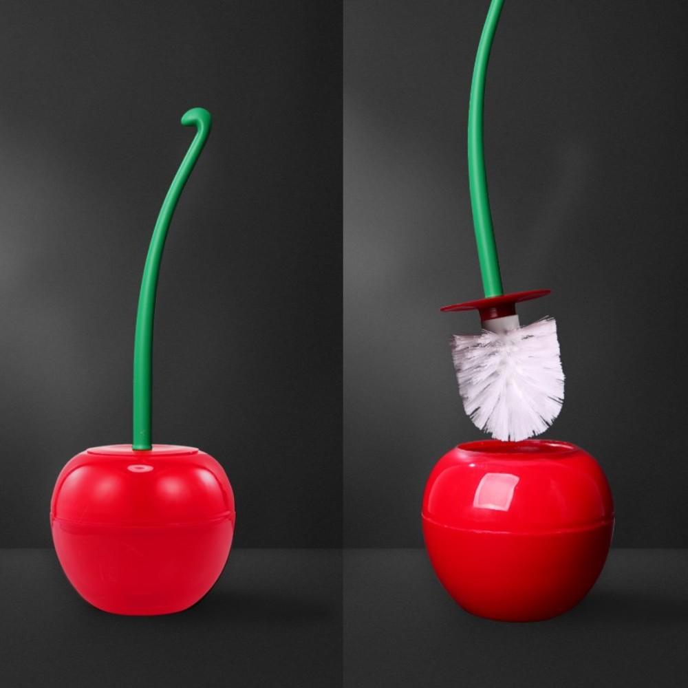 자취 필수템 체리 사과 과일 변기 솔 청소도구, C