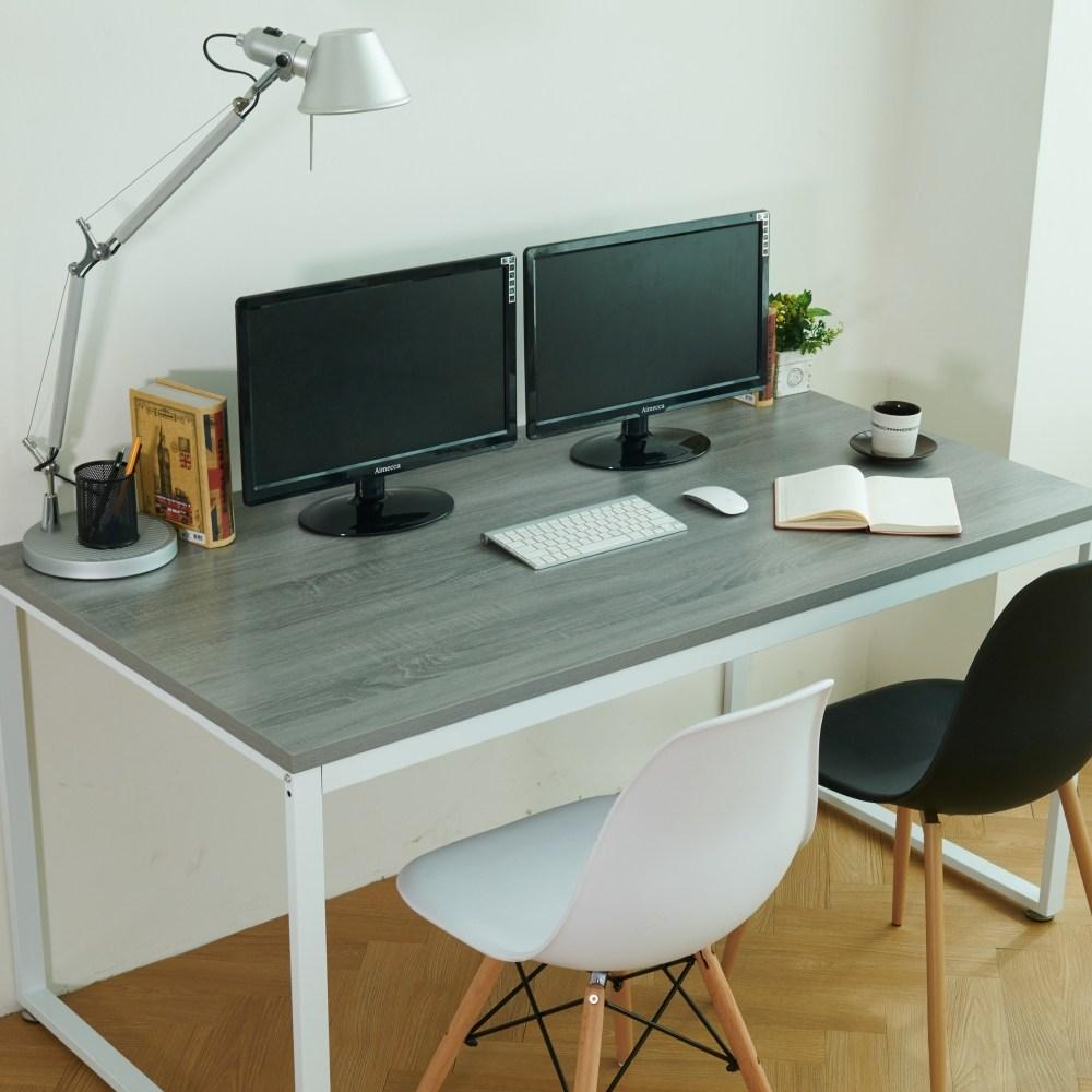 블루밍홈 로더 유로 책상 와이드 1500x800, 화이트+그레이오크