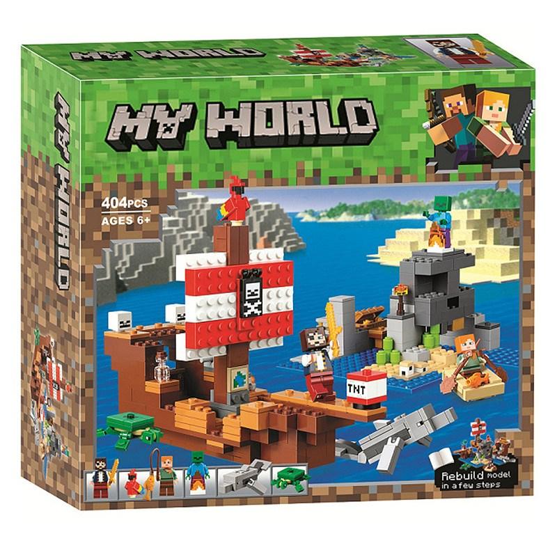레고 마인크래프트 마인크래프트레고 해적선 모험 21152 호환 중국레고